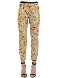 Monocrom Printed Silk Cady Pants