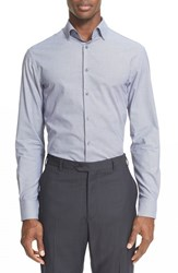Men's Armani Collezioni Trim Fit Micro Pattern Dress Shirt