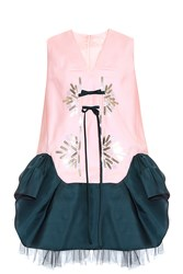 Delpozo Pink Tunic Dress Multi