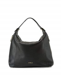 Furla Simplicity Leather Hobo Bag Onyx Petal