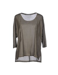 Superfine Topwear T Shirts Women Military Green