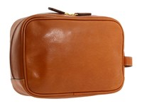 Bric's Milano Life Leather Traditional Shave Case Cognac Leather Wallet Brown