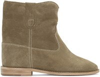 Isabel Marant Taupe Crisi Ankle Boots