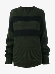 Haider Ackermann Oversized Mohair And Wool Jumper Khaki Navy Black