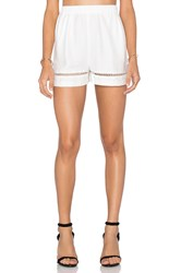 Bb Dakota Elastic Waist Short White