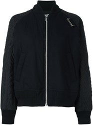 Sacai Quilted Bomber Jacket Black