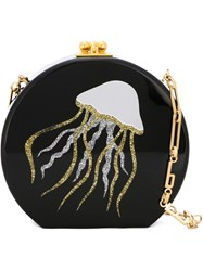 Edie Parker 'Oscar Jelly Fish' Cross Body Bag Black