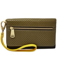 Fossil Preston Perforated Multifunction Wallet Canteen