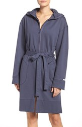 Dkny Women's Front Zip Terry Robe Anchor