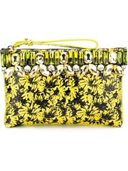 Gedebe 'Flat' Clutch Yellow And Orange