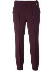 Twin Set Cropped Trousers Red