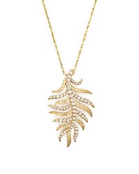 Bloomingdale's Diamond Feather Pendant Necklace In 14K Yellow Gold .60 Ct. T.W.
