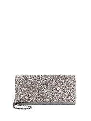 Saks Fifth Avenue Rhinestone Detailed Shoulder Bag Gunmetal