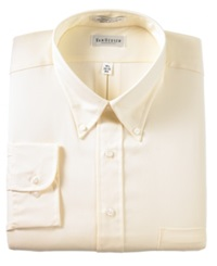 Van Heusen Big And Tall Easy Care Pinpoint Oxford Dress Shirt Maize