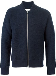 Our Legacy Knitted Bomber Jacket Blue