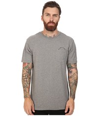 Tavik Crew Short Sleeve Pocket T Shirt Heather Grey Men's T Shirt Gray