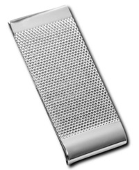 Kenneth Cole Reaction Textured Money Clip Silver
