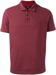 Armani Jeans Polka Dots Polo Shirt Red