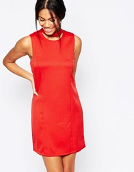 Influence Crepe Shift Dress Red