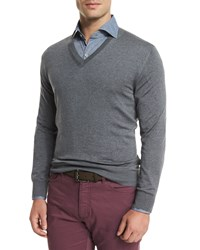 Ermenegildo Zegna High Performance Wool Sweater Light Gray Light Grey