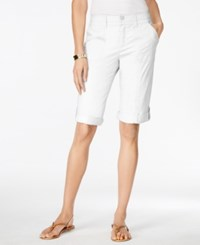Styleandco. Style And Co. Petite Cargo Shorts Only At Macy's Bright White