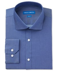 Vince Camuto Slim Fit Denim Solid Dress Shirt
