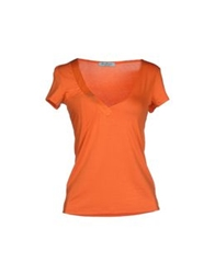Guess By Marciano T Shirts Orange