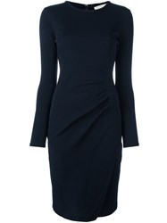 Michael Michael Kors Ruched Jersey Dress Blue