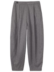 Toast Slouchy Flannel Trousers Mid Grey
