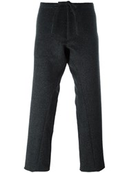 The Inoue Brothers Straight Leg Trousers Grey