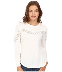 Rebecca Taylor Tee With Lace Chalk Women's Sleeveless White
