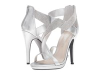Caparros Fantastic Silver Clear Metallic High Heels