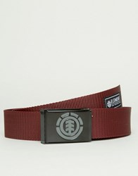 Element Beyond Webbing Belt Red