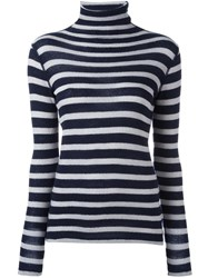 Majestic Filatures Striped Jumper Blue