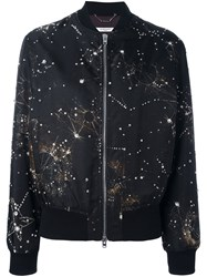Givenchy Constellation Print Bomber Jacket Black