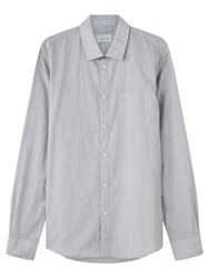 Jigsaw Melange Slim Fit Shirt Grey