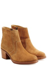 A.P.C. Suede Ankle Boots Beige