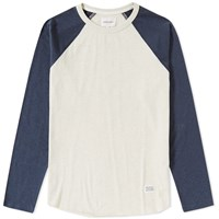 Norse Projects Long Sleeve Aske Perforated Tee Blue