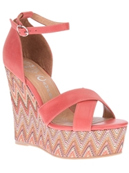 Jeffrey Campbell 'Bradshaw' Wedge Sandal Pink And Purple