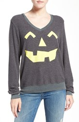 Wildfox Couture Women's Jack O' Lantern V Neck Pullover