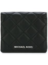 Michael Michael Kors 'Jet Set Travel' Quilted Wallet Black