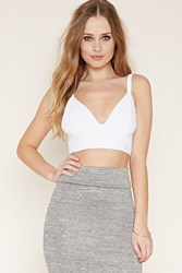 Forever 21 Textured Crop Top