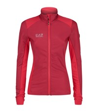 Armani Ea7 Two Tone Zip Up Base Layer Female Pink
