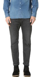 Chimala Selvedge Denim Used Ankle Cut Jeans Charcoal