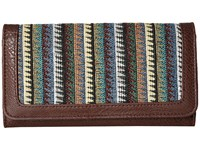 American West Tulum Flap Wallet Dark Brown Multi Wallet Handbags