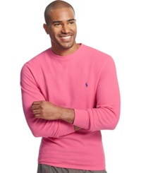 Polo Ralph Lauren Men's Thermal Crew Neck Shirt Chroma Pink