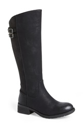 Very Volatile 'Mira' Riding Boot Women Black Faux Leather