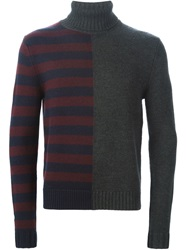 Carven Striped Detail Sweater Grey