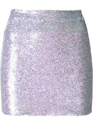 Ashish Sequin Mini Skirt Pink And Purple