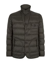 Aquascutum London Wadded Mountain Formal Quilted Jacket Green